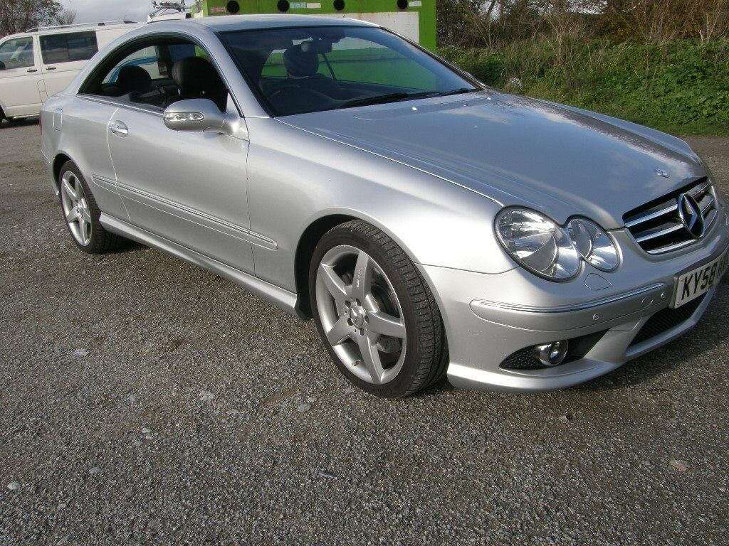Mercedes Benz CLK 200 Sports Coupe Kompressor Sat-Nav AMG Styling 2008 Auto  + Pads