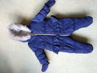 Mothercare baby girl winter coat 1-3month
