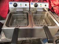 Commercial twin fryer