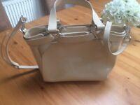 L.K. Bennett Cream Patent Handbag