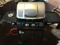 BRAND NEW BOXED Gas BBQ grill with side burner - 2 burner ASSEMBLED - READY TO USE, RRP £109