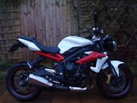 2013 TRIUMPH STREET TRIPLE R ABS, 2 owners, low mileage, FSH, HPI clear