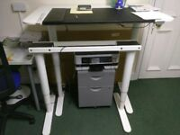 Electric 'sit - stand' white office desk 120cm x 80cm by Ikea, model Bekant - £85 ono