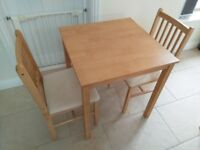 JOHN LEWIS dining table and 2 chairs