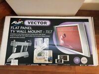 """AVF VECTOR FLAT PANEL TV WALL MOUNT, 10 DEGREE TILT 26-42"""" (66-107CM) MODEL FP001-I SILVER BRAND NEW"""