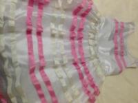 Brand new beautiful white and pink dress for immediate sale