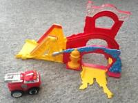 Fire engine battery operated toy
