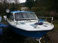 TAYLOR 14' foot PLEASURE & FISHING BOAT with CABIN.