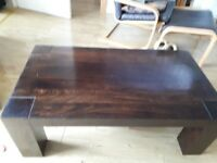 Large coffee table and two side tables