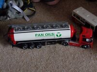Tanker and long bus