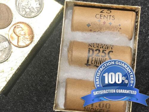 3 LAS VEGAS CASINO ROLLS 1 1950-66 Sands Nickel 1 Stardust 1 Nugget Cent 60S