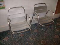 2 Metal Chairs ID 54/11/17