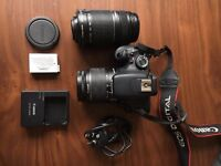 Canon EOS 600D 18.0MP DSLR Camera (Kit w/18-55mm + 55-250mm Lens + carry bag)