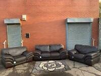 Beautiful Italian leather sofa set delivery 🚚 sofa suite couch furniture