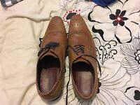 Burton tan/brown brogue shoes size 11