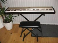 Roland Digital Piano FP-5 package including pedals, adjustable stand & stool,padded case,dust cover