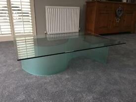 Fultons glass coffee table