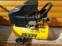 25 litre air compressor 2.5hp twin outlets used twice excellent condition