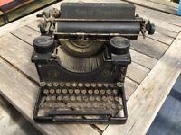 Vintage Smith Premier typewriter - ornamental or prop