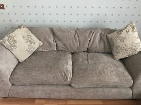 Sofa 3 and 2 seater Chenille fabric mink colour