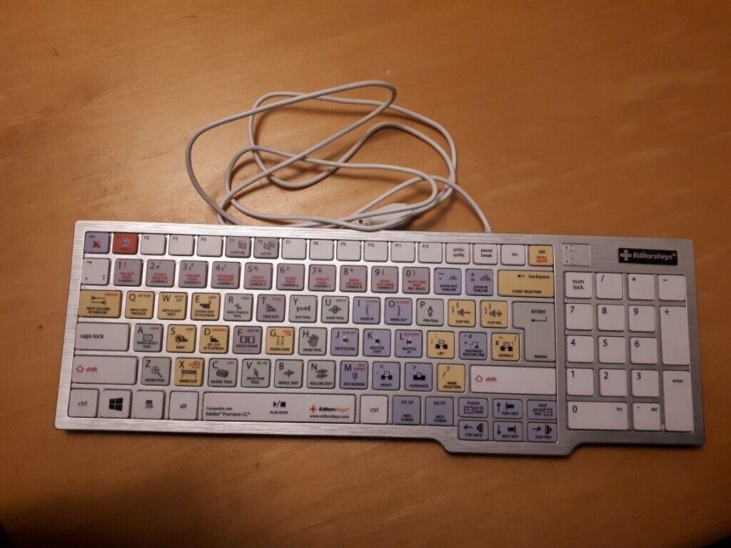 27695825abc REDUCED! Editors Keys Adobe Premiere Pro Shortcut Keyboard for PC / Windows