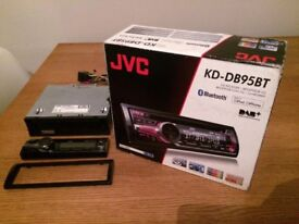 JVC KD-DB95BT CD/MP3 Car stereo with DAB/DAB+, Front USB/AUX input and built in Bluetooth