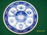 MASON,S BLUE AND WHITE 10 INCH PLATE ENTITLED THE TEAPOT COLLECTION