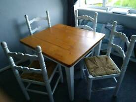Dinning table, Soild pine farmhouse table ( free )