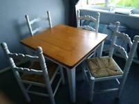 Dinning table, Soild pine farmhouse table ( free )