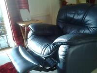 3/4 seater recliner sofa and recliner chair.