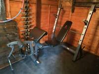 Heavy duty Olympic bench Marcy with Squat rack