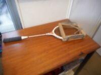Dunlop Pioneer badminton racket with press in good order