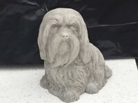 Concrete garden sitting Lhasa apso ornament