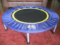 Urban Rebounding Exercise Trampoline inc. 2 Exercise DVDs 120cm (Centre 68cm). Good Condition. £30.