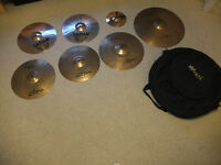Collection of 8 Zildjian and Sabian cymbals