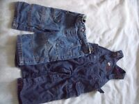 Dungarees, jeans, jacket and jumper bundle - 6 to 12 months