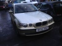 bmw 316Ti compact 1.8 petrol gold 2002 breaking for spares