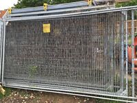 Used Heras mesh fence panels, feet and clips