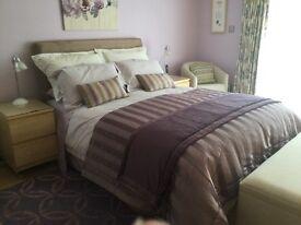 John Lewis Vispring Dyrham King Size bed with Headboard