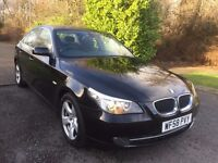 BMW 520 DIESEL SE 58 REG IN ORCA BLACK,1 OWNER AND FULL SERVICE HISTORY,MOT DEC, PETER 07867955762