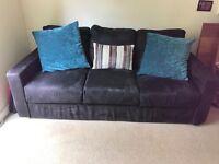 Three seater sofa in black