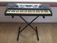 YAMAHA PSR-262 Full Size 61 Touch Sensitive Keys Keyboard - With Stand,music stand and power point