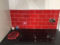 Johnson Bevel Brick Red Ceramic Tiles