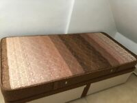 3ft Single Divan Bed & Mattress complete with 2 Large Storage Drawers