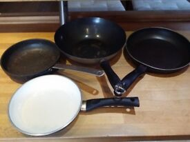 Frying pans, Chinese Wok and Ceramic coated skillet