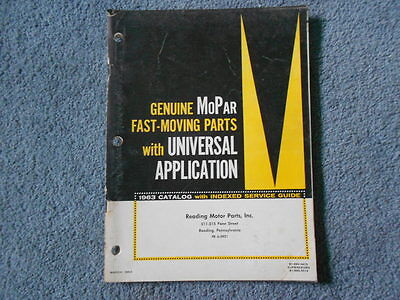 1963 MOPAR FAST-MOVING PARTS WITH UNIVERSAL APPLICATION GM FORD CHRYSLER ORIG