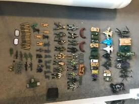 Hundreds of army toys and accessories