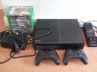 XBOX ONE BUNDLE INCL 2 CONTROLLERS + 17 GAMES - EXCELLENT!