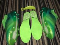 As New Green & Used Black Adidas 17+ Pure Control FG Boots Size 9 RRP £460.