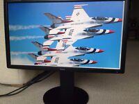 """Gaming Monitor 24"""" TFT Iiyama ProLite B2409HDS 1920 x 1080 2ms Response speakers. DVI HDMI"""